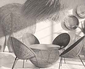 Click for rattan dinning chairs